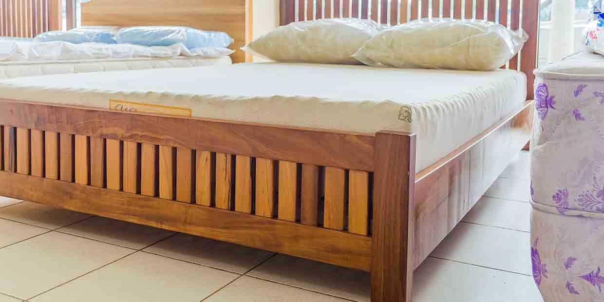 ad3ec2cda Frame Wooden Bed   Latex Foam