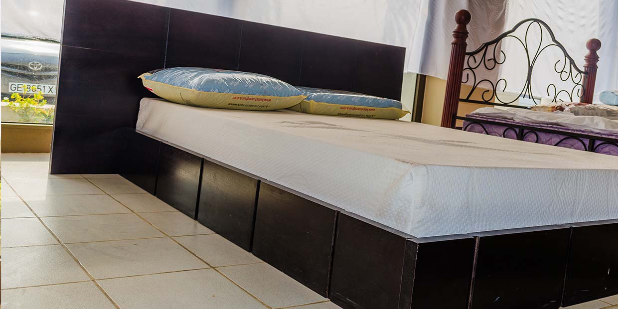 manzonia black wooden bed latex foam - Black Wooden Bed Frame